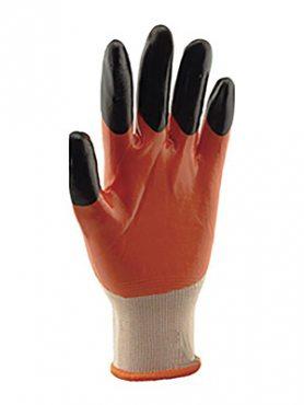 Перчатки рабочие стрейчевая покрытая двойным нитрилом (1 пара) (1 шт)