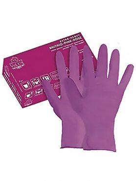"""Перчатки латекс хозяйственный розовые """"VitLux"""" M (1 шт)"""