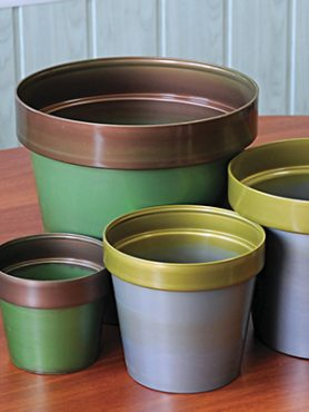 Горшок 2 л, зелено-бронзовый (1 шт)