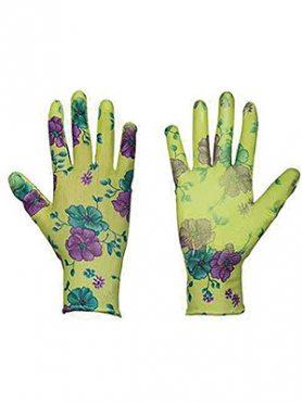 Перчатки садовые с силиконовым покрытие цветок (1 пара) (1 шт)