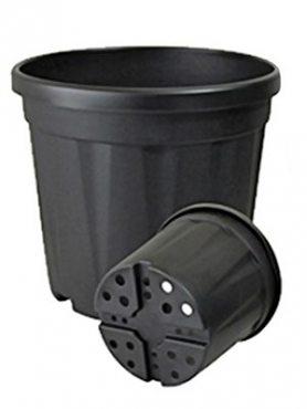 Горшок 6 л, черный (1 шт)