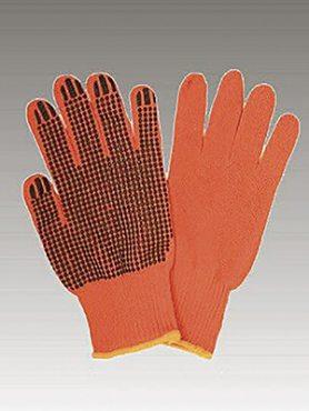 Перчатки рабочие хб оранжевая с пвх покрытием (1 пара) (1 шт)