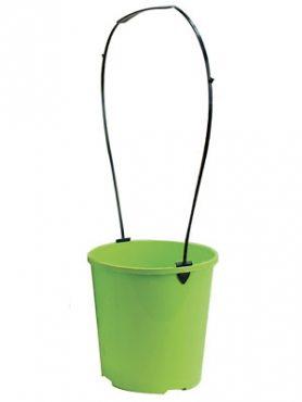 Горшок круглый 3 л, 19х14,9 см, зеленый (1 шт)