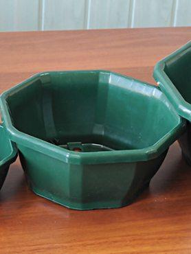Горшок 2 л, зеленый (1 шт)