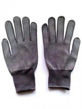 Перчатки рабочие тонкие нейлоновые с микроточки ПВХ покрытием (1 шт)