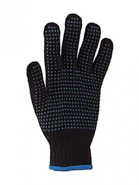 Рукавички робочі х  б чорні з ПВХ покриттям (1 пара)