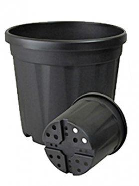 Горшок 34 л, черный (1 шт)